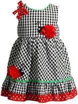 Youngland Baby Girl Ladybug Seersucker Dress