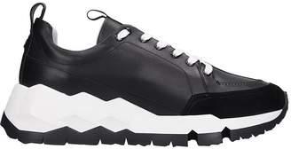 Pierre Hardy Street Life Sneakers In Black Leather
