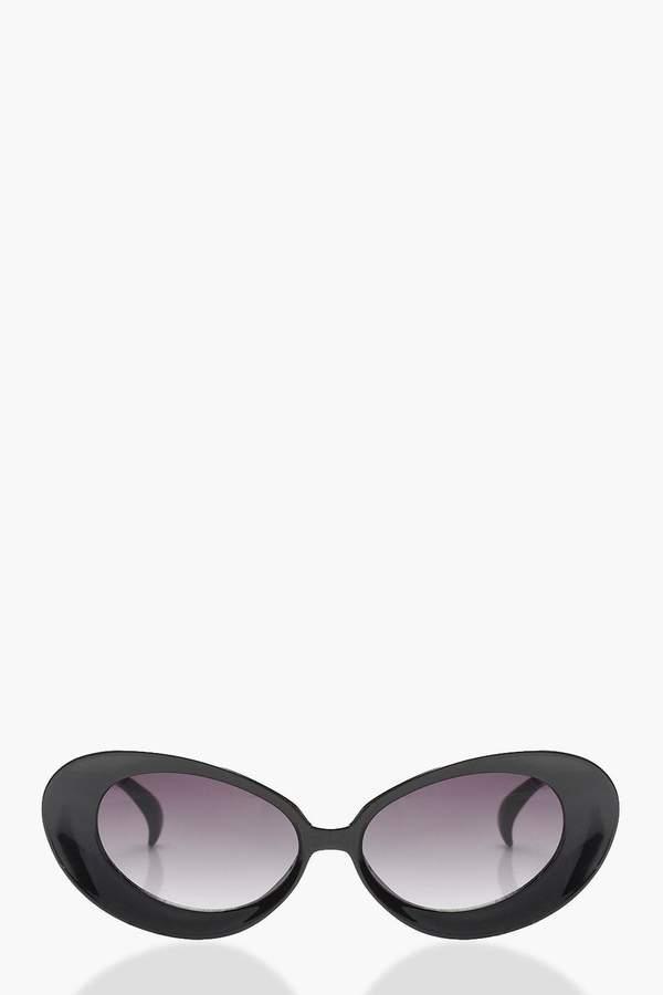 boohoo Oval Cat Eye Sunglasses