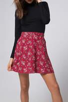 Motel High-Waist Floral Skirt