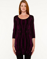 Le Château Viscose Blend Abstract Print Tunic