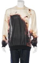 Givenchy Burnt Print Silk Sweatshirt