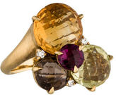 Carelle Cluster Diamond & Citrine Ring