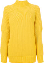 Victoria Beckham knitted polo neck sweater - women - Wool - 1