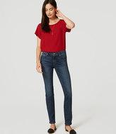 LOFT Tall Modern Straight Leg Jeans in Medium Faded Wash