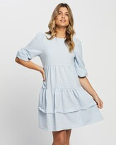 Thumbnail for your product : Only Women's Blue Gingham Dresses - Johanna Dress - Size One Size, L at The Iconic
