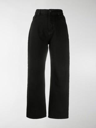Balenciaga Cropped Ankle-Cut Jeans