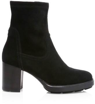 Aquatalia Idalia Stretch-Suede Ankle Boots