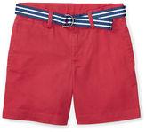 Ralph Lauren Childrenswear Suffield Belted Stretch Chino Shorts