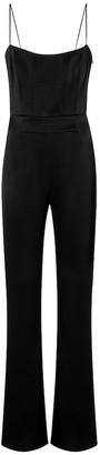 Galvan Embellished satin crepe jumpsuit