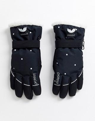 Protest Quite snow glove in black