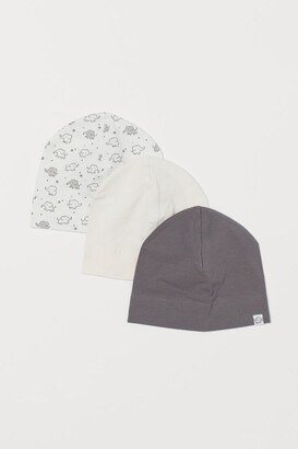 H&M 3-Pack Cotton Jersey Hats