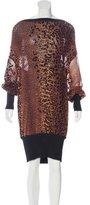 Jean Paul Gaultier Jacquard Leopard Print Dress