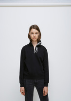 Courreges black/white logo zipped neck sweatshirt