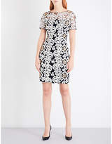 St. John Ladies Embroidered Concealed zip Floral-Embroidered Dress