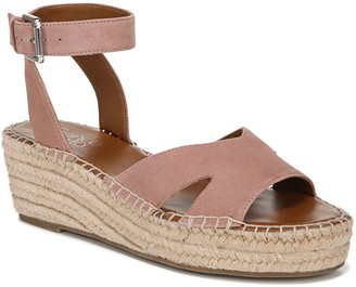 Franco Sarto Leather Wedge Espadrilles - Pellia
