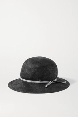 Maison Michel Kendall Straw Hat - Black