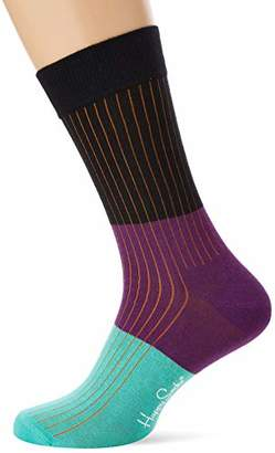Happy Socks Men's Block Rib Sock Multicolour 930), (Size:41-46)