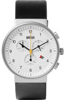 Braun Bn0035 Classic Chronograph Stainless Steel And Leather Watch