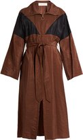 Nina Ricci Oversized waist-tie trench dress