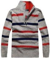 Minibee Men's Turtleneck Sweater Pullovers with Zipper M