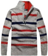 Minibee Men's Turtleneck Sweater Pullovers with Zipper Thick S