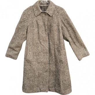 Burberry Brown Wool Coat for Women
