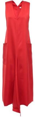 Tibi Satin-twill Midi Dress