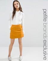Fashion Union Petite Tress Courdroy Aline Mini Skirt