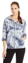 Calvin Klein Women's Tie Dye Fleece Hooded Sweatshirt Jacket