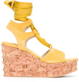 Paloma Barceló Irmine cork wedge sandals - women - Cork/Leather/Suede/rubber - 38