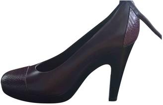Jil Sander Purple Leather Heels