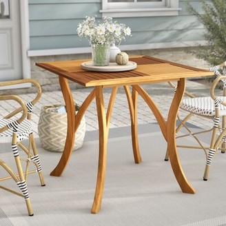 Beachcrest Home Coyne Solid Wood Dining Table