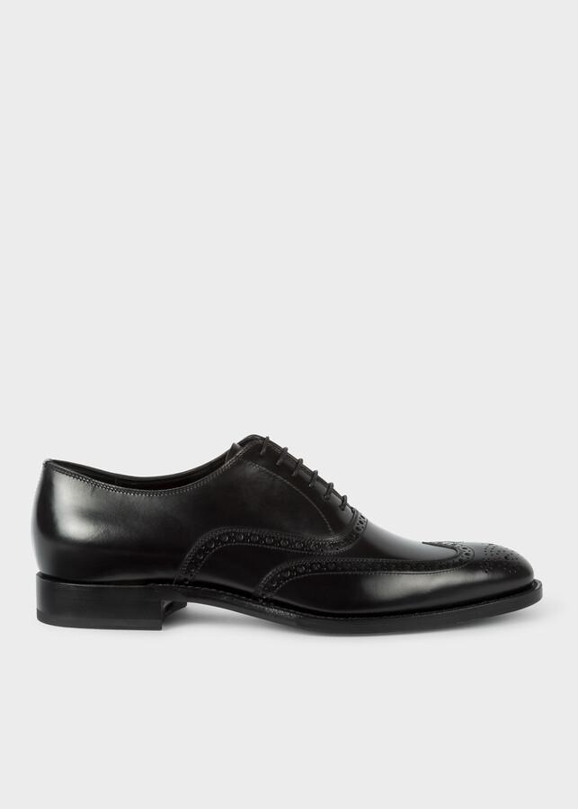 Paul Smith Men's Black Calf Leather 'Clifton' Brogues