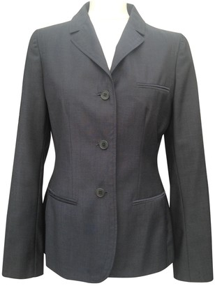 Calvin Klein Collection Blue Wool Jacket for Women