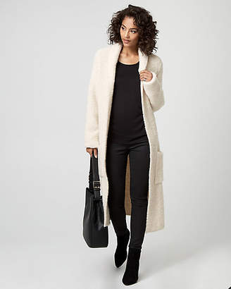 Le Château Textured Wool Blend Sweater Coat
