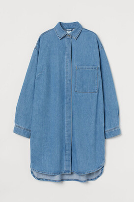 H&M Oversized Denim Dress - Blue