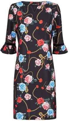 James Lakeland Heart And Rose Print Dress