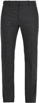 Alexander McQueen Slim-leg flannel-wool trousers