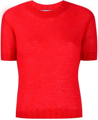 Prada short-sleeve knitted sweater