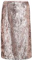 J.Crew SEQUIN Pencil skirt rose gold