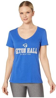 Champion College Seton Hall Pirates University V-Neck Tee (Royal) Women's T Shirt