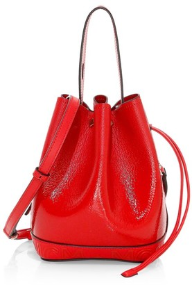 MCM Mini Milano Drawstring Patent Leather Bucket Bag