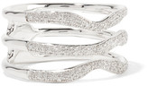 Monica Vinader Riva Wave Sterling Silver And Diamond Ring - K