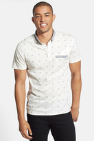 7 Diamonds Prism Print Mercerized Polo