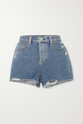 Rag & Bone Dre Distressed Denim Shorts - Mid denim
