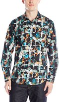 Robert Graham Men's Tropic Thunder Sport Shirt, Multi
