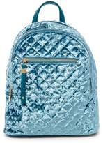 Urban Expressions Quilted Velvet Mini Backpack