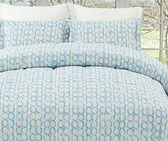 Natural Comfort MC210-RING-BL-K Luxurious All Season Reversible Down Alternative Comforter Mini Set