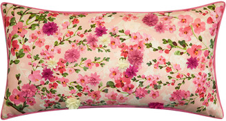 Edie@Home Dimensional Indoor & Outdoor Cherry Blossom Lumbar Pillow